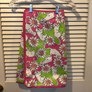 Lilly Pulitzer Reversible wrap skirt-  Size 4